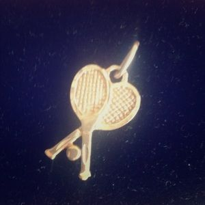 Jewelry - Tennis anyone???  14kt Solid Gold Tennis Charm!!!!